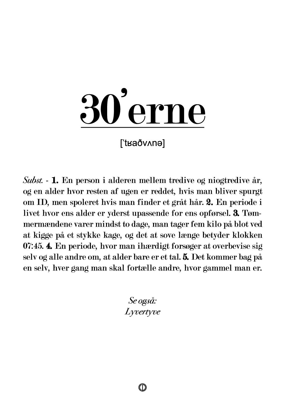 30'erne definition - plakat | 199.00